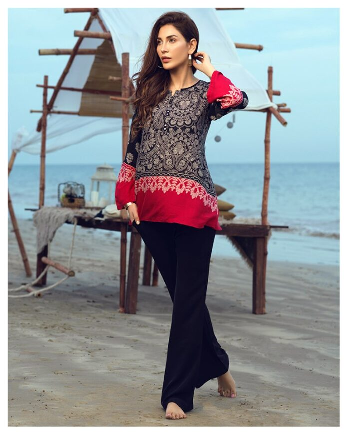 limelight pret printed arabic lawn shirt