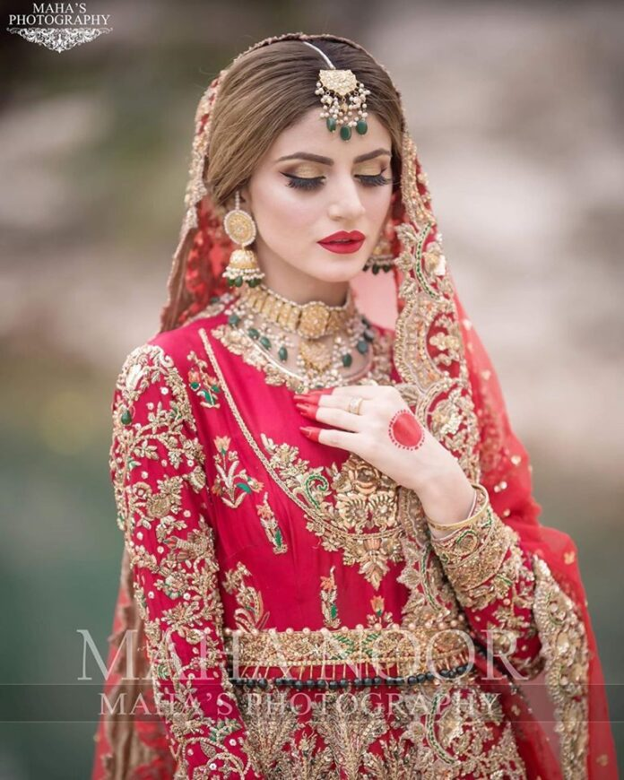 Bridal Photo Shoot of Actress Zubab Rana