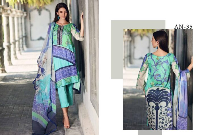 Embroidered Lawn Suit 2020 by Charizma