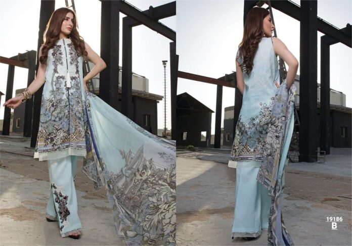 Firdous lawn print ombre collection 2019