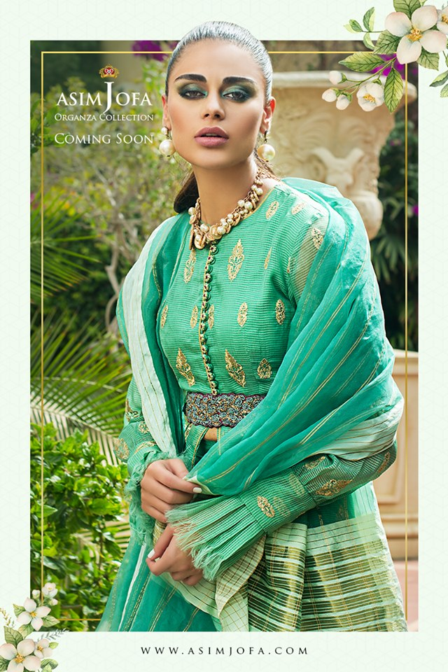 asim jofa embroidered dresses organza collection