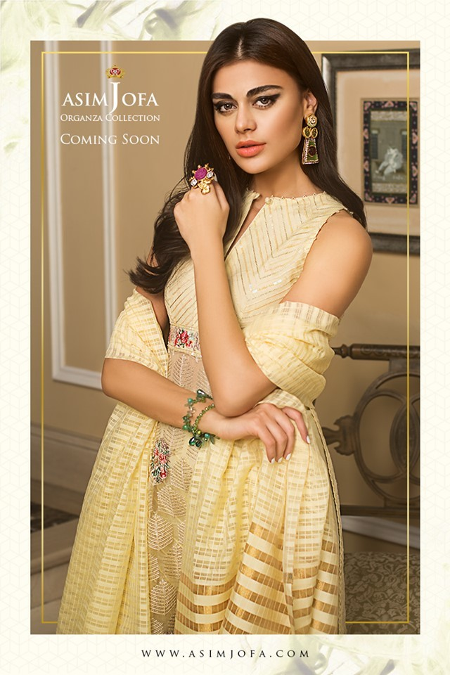 asim jofa lawn dresses 2020 organza collection
