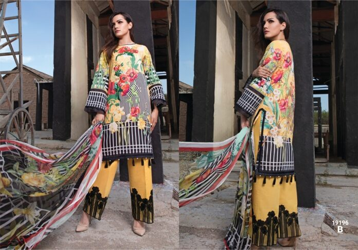 firdous lawn print 2019 ombre collection