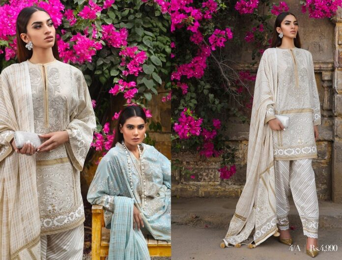 sana-safinaz-Muzlin-collection-2020-beige-shirt-with-mughal-motifs