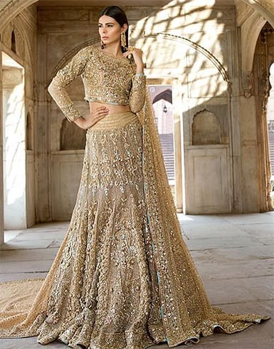 all-gold-bridal-lehenga-blouse-designs-catalogue