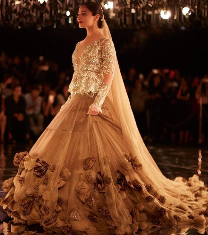 light-golden-ruffle-lehenga-designs