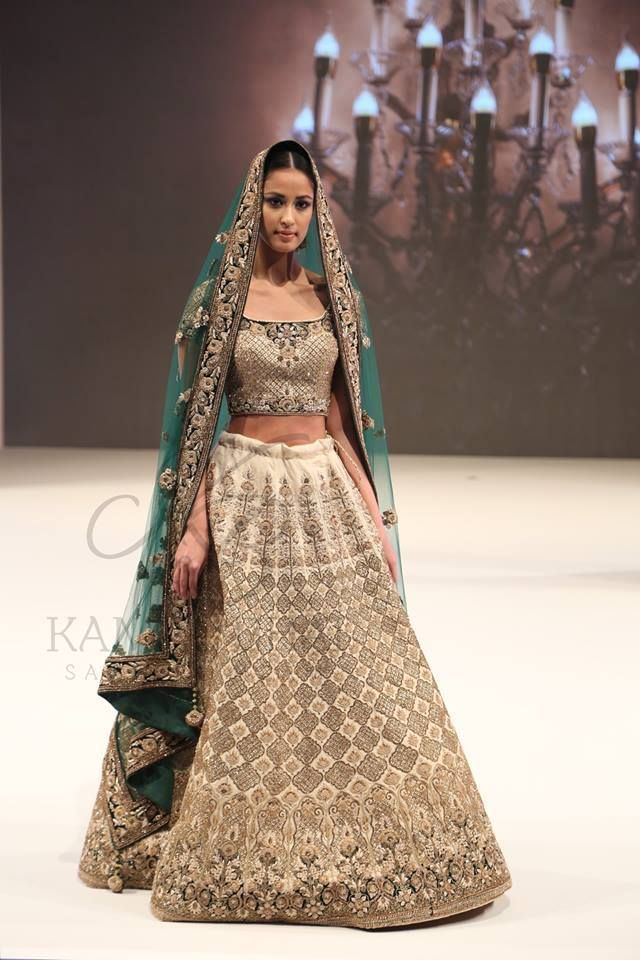 ribbons-work-gold-bridal-lehenga-designs