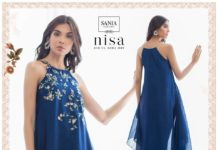 sania-maskatiya-sleeveless-long-dress-eid-2019