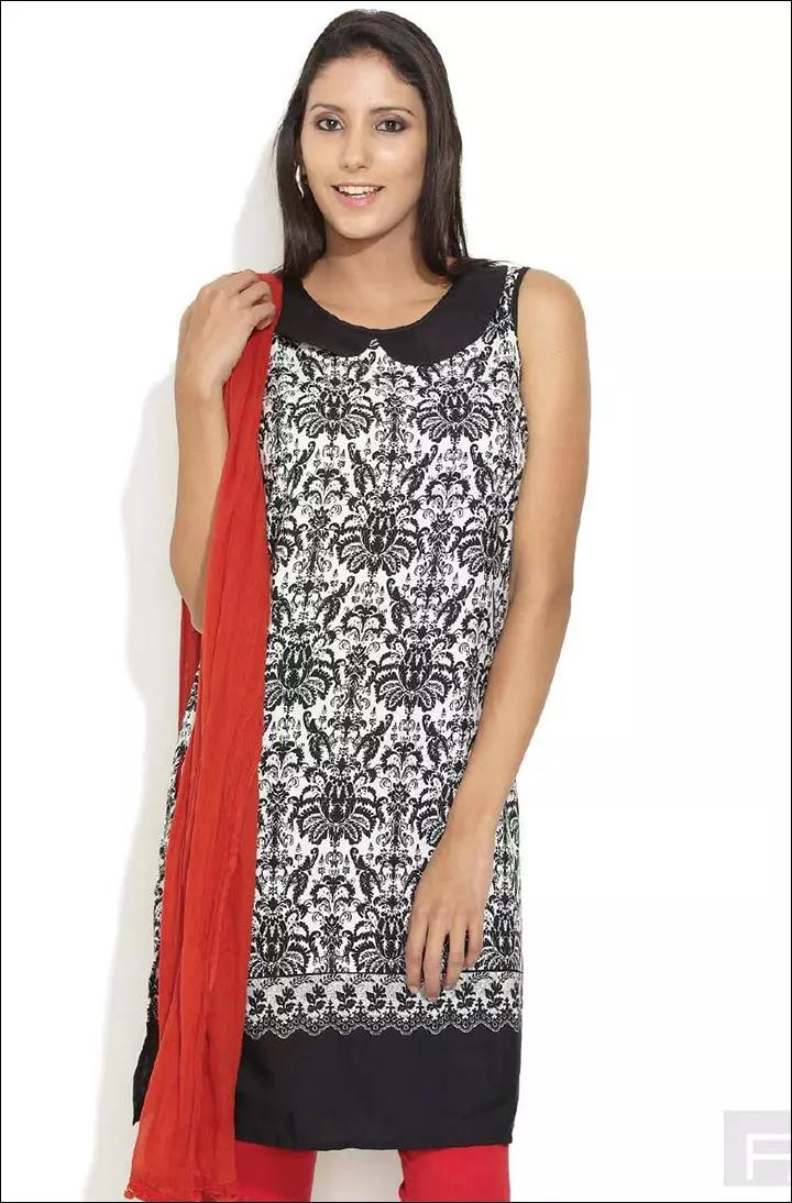 Peter-Pan-Neck-Pattern-On-Churidar-Kurtis