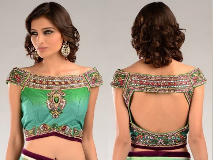 Trendy-blouse-back-neck-designs-front-&-back