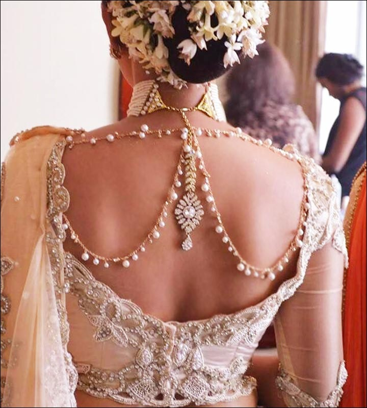 Bejeweled Back Neck Design