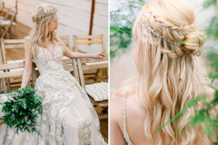 bridal-hairstyles-for-short-hair-with-flowers