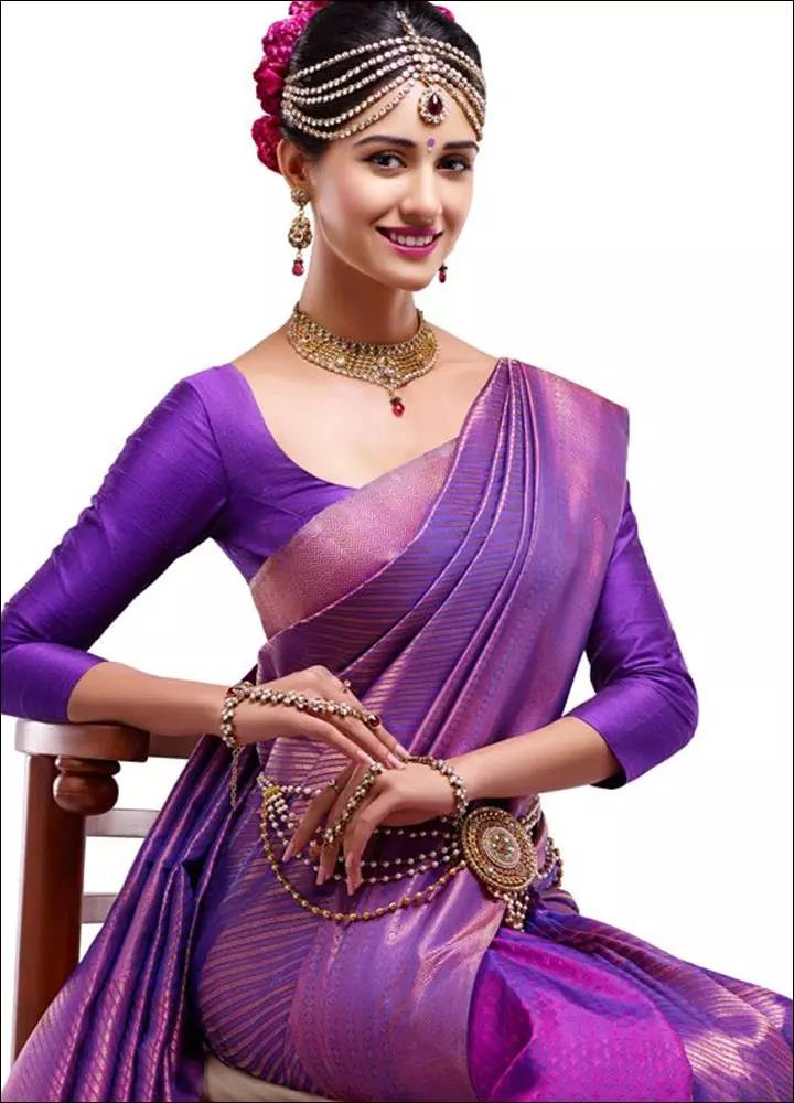 Purple-Blouse-Designs-For-Silk-Sarees
