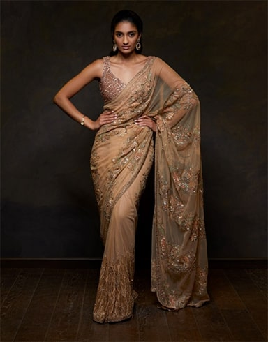 embellished-golden-saree