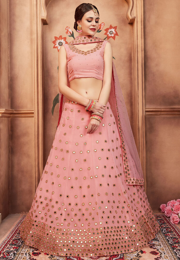 embroidered-georgette-lehenga-in-peach