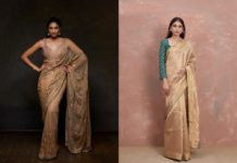 golden-saree-designs-for-diwali