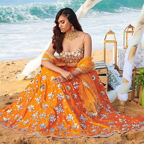 orange-mirror-work-lehenga