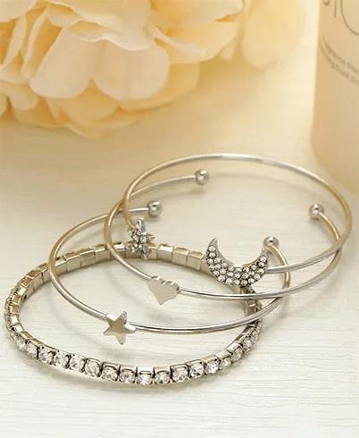 star-moon-bracelet-set