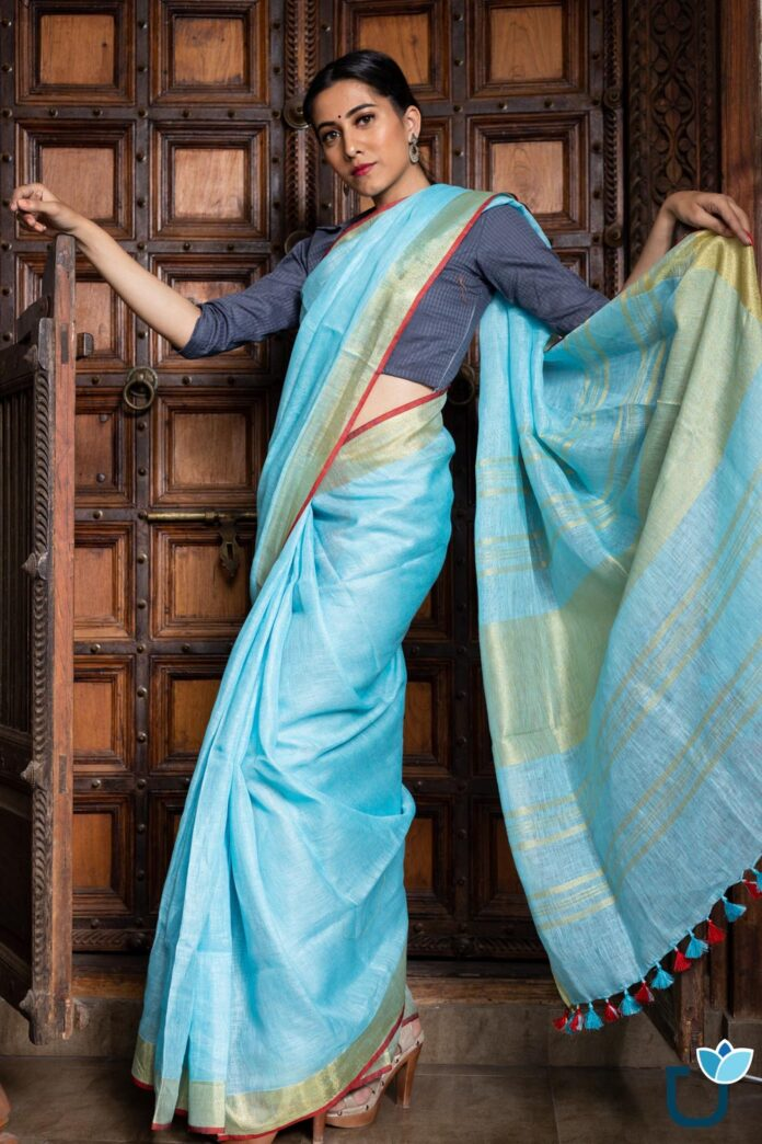 designer-and-traditional-linen-sarees