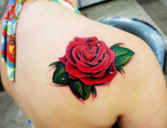 Beautiful-Red-Rose-Tattoo