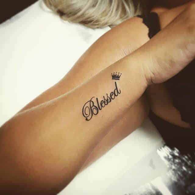 Blessed hand tattoo