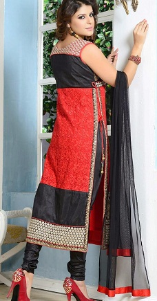 Designer-style-churidaar-dress