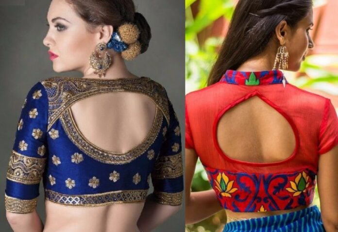 Lehenga Blouse Back Neck Design