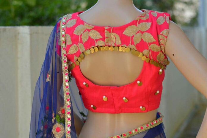 Stylish Fancy Saree Blouse Back Neck Designs