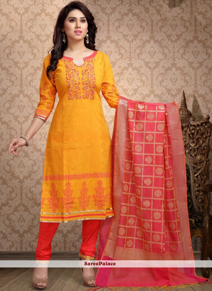 designer-cotton-chudidar-suit-in-yellow