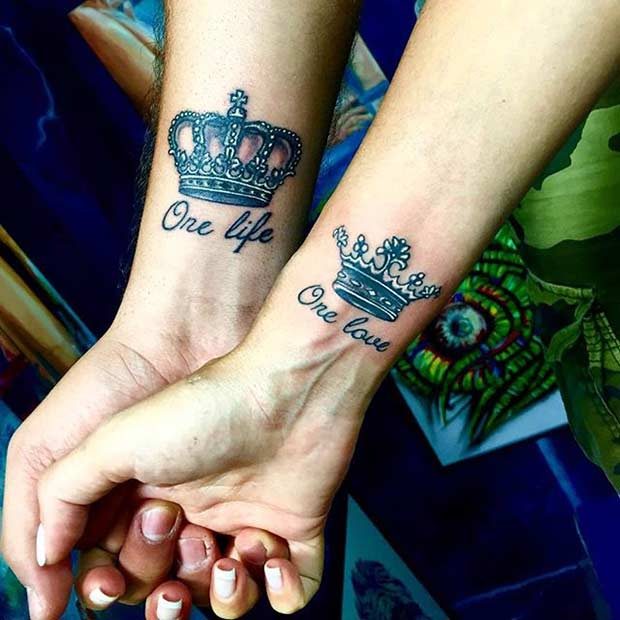 king-and-queen-wrist-tattoos