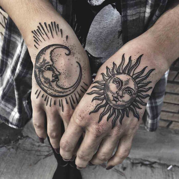 sun-moon-tattoos-for-ladies