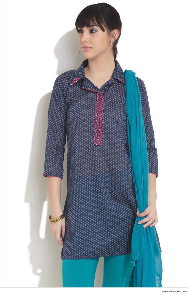 Fashionable Collar Neck Designs for Kurtis
