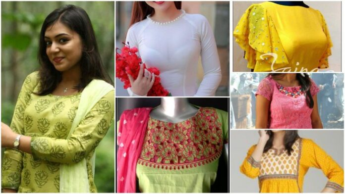 New stylish kurti neck designs for women