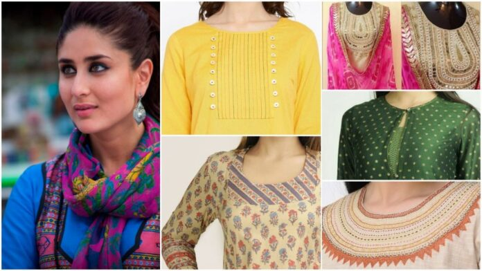 Stylish kurti neck designs for women