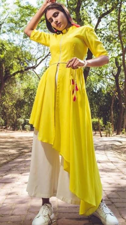 beautiful-asymmetric-neckline-kurta-design