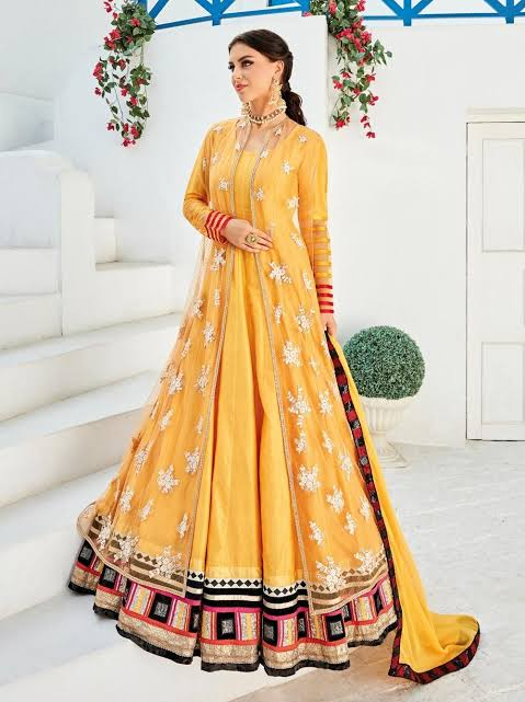 knee-length-anarkali-churidar-designs