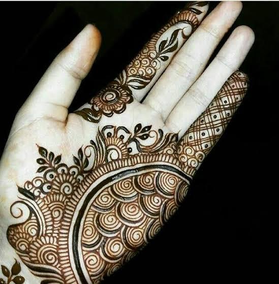 simple mehndi designs arabic for hand
