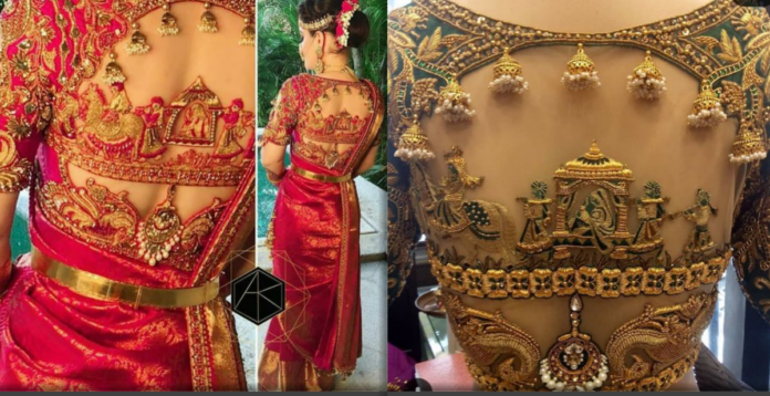 Bridal Palanquin Maggam Work Blouse