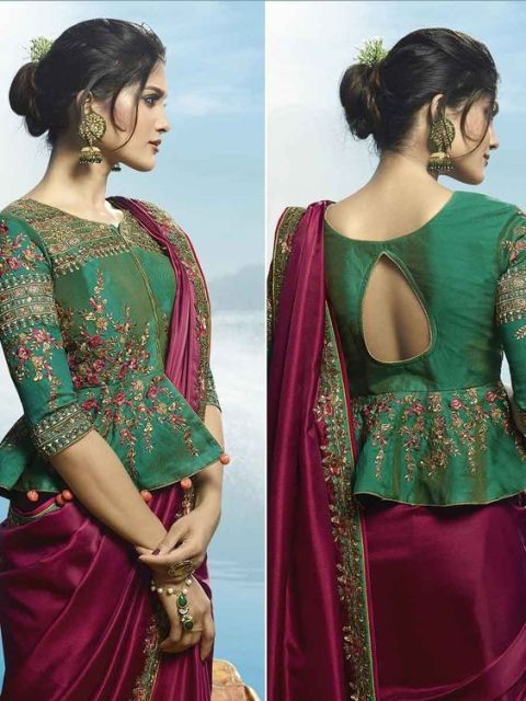 front-neck-saree-blouse-designs