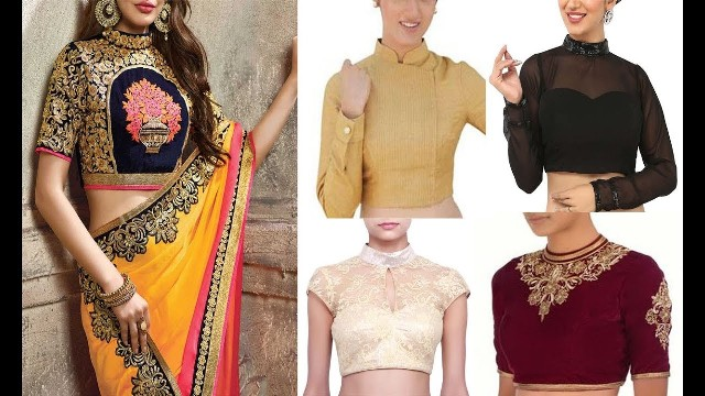 latest-chinese-collar-neck-blouse-design
