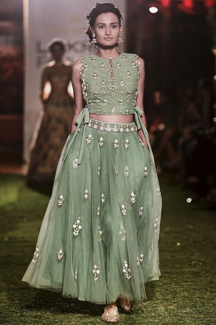 latest-sage-green-embroidered-crop-top-design-blouse