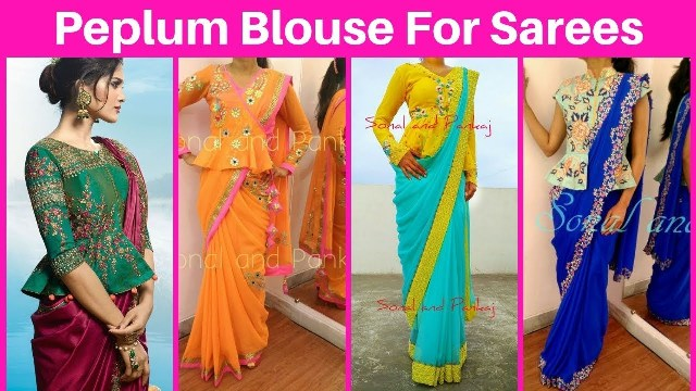 peplum-style-blouse-with-saree