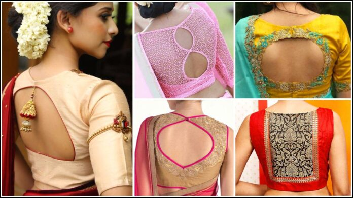 stylish-blouse-neck-patterns-for-silk-saree