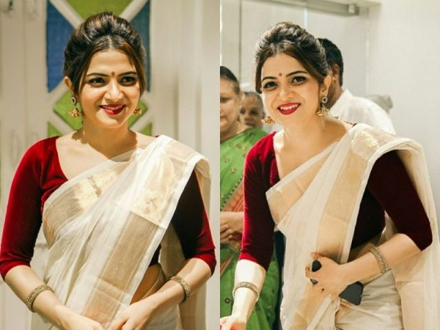 Beautiful-kerala-saree-blouse-designs-for-girls