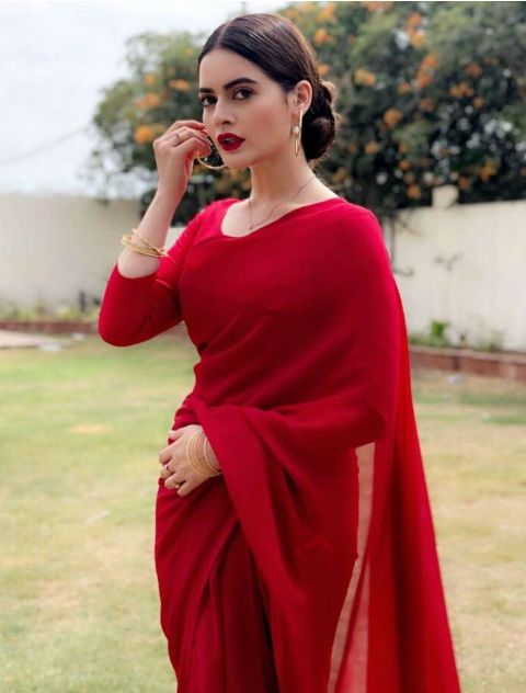 Traditional Red Blouse