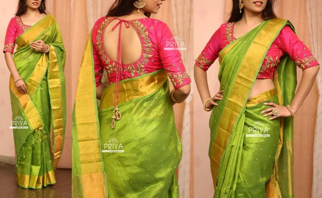 best-green-zari-blouse