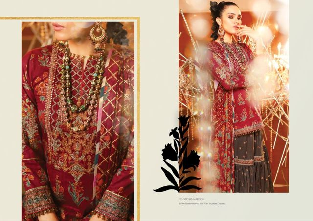 Alkaram Embroidered Suit for Eid