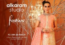 Alkaram Studio Eid Collection 2 Piece Embroidered Suit