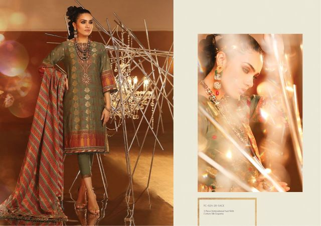 Embroidered Suit Dresses by Alkaram