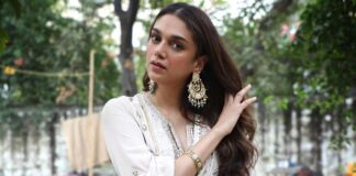 Aditi-Rao-Hydari-in-pastel-sharara-set-with-chaandbali-earring